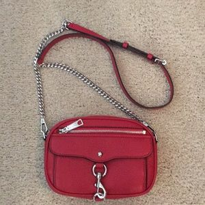 Rebecca Minkoff pebbled red leather cross body